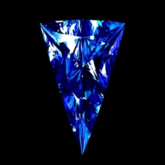 Sapphire Triangle Cut. Looped. Alpha Matte. Stock Footage