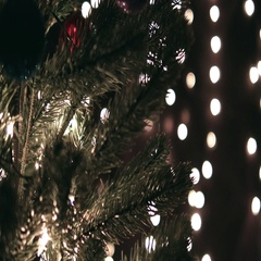 Hanging Christmas Decoration On Tree Stock Footage