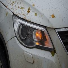 Footage dip-light the car close up. 4k Stock Footage