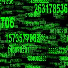 Random numbers data flow seamless loop Stock Footage