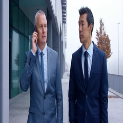 Co-Workers Sharing Opinions During Important Phone Conversation Stock Footage