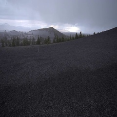 Inferno Cone Overlook Craters of The Moon at Sunset Stock Footage