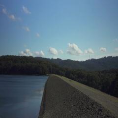 Melbourne Water Supply. Olinda Silvan Reservoir.  Stock Footage