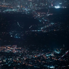 6K LA Night Cityscape Aerial 19 Clouds Time Lapse Stock Footage