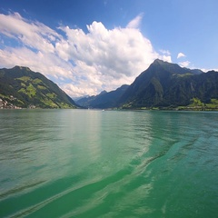 Swiss landscape with Zugersee, Switzerland, Europe. Stock Footage
