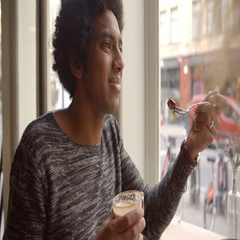 Close Up Of Couple Enjoying Coffee And Cake In Cafe Stock Footage