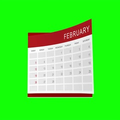 Calendar – green screen (4K) Stock Footage