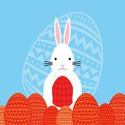 Happy easter cute card Stock Illustration