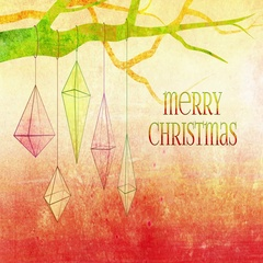 Christmas geometric ornaments background loop. Light red with Merry Christmas. Stock Footage