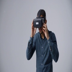 Slow Motion Sequence Of Video Game Designer With VR Headset Stock Footage