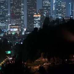6K Los Angeles Skyscrapers 16 Time Lapse Night Stock Footage