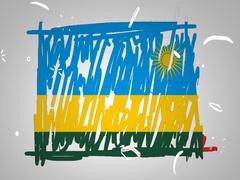 Rwanda - Animation - outline - White Background - SD Stock Footage
