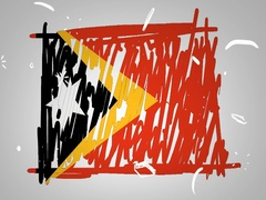 Timor-Leste - Hand drawn - Animation - outline - White Background - SD Stock Footage