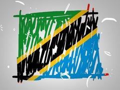 Tanzania - Hand drawn - Animation - outline - White Background - SD Stock Footage