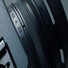 Aperture on the lens, close-up Stock Footage