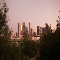 8K Los Angeles Sunset to Night 25 Time Lapse Skyline Stock Footage