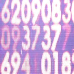 Hexadecimal code from a lcd monitor like abstract 0    022 MOV Stock Footage