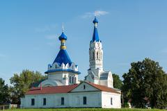 Lipetsk, Russia - August 10.2016. Church of St. Dmitry Solunsky in village Stock Photos