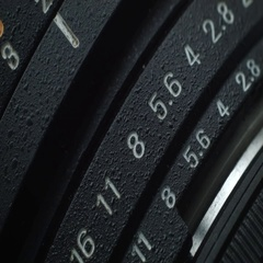 Aperture on the lens Stock Footage