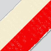 Polish grunge flag. Vector illustration Stock Illustration