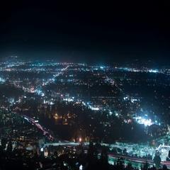 8K San Fernando Valley Night Time Lapse 30 Cityscape Stock Footage