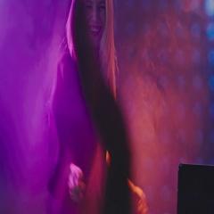 Ecstatic Female DJ Playing Set in Nightclub Stock Footage