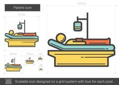 Patient line icon Stock Illustration