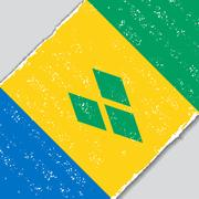 Saint Vincent and the Grenadines grunge flag. Vector illustration Stock Illustration
