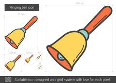 Ringing bell line icon Stock Illustration