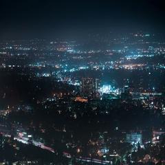 6K San Fernando Valley Night Time Lapse 40 Cityscape Stock Footage