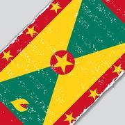 Grenada grunge flag. Vector illustration Stock Illustration