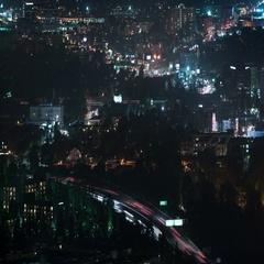 6K San Fernando Valley Night Time Lapse 43 Cityscape Stock Footage