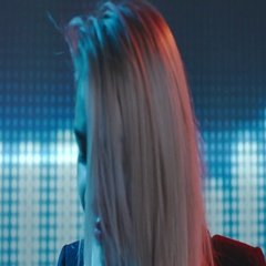 Blond Female DJ Dancing in Club Stock Footage