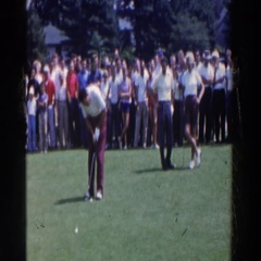 1961: golfing in the turn of the century, missing the important putt RIDGEFIELD Stock Footage