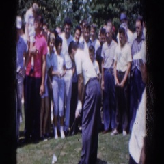 1961: pins and needles golf tournament. RIDGEFIELD, NEW-JERSEY Stock Footage