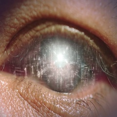 Eye od Cyberspace. Stock Footage
