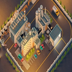 Aerial View Of Furniture Factory Stock Footage