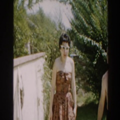 1961: couple enjoying their time in the sunshine. NORTH HOLLYWOOD, CALIFORNIA Stock Footage