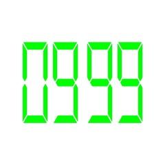 Digital timer countdown-13 Stock Footage