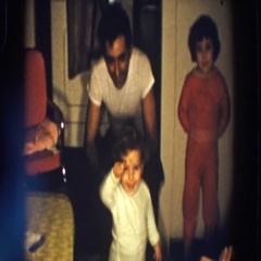 1958: children jumping for joy at family gathering. ALIQUIPPA, PENNSYLVANIA Stock Footage
