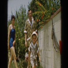 1961: follow the leader to the pool NORTH HOLLYWOOD, CALIFORNIA Stock Footage