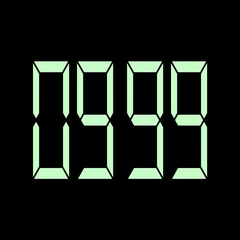 Digital timer countdown-06 Stock Footage