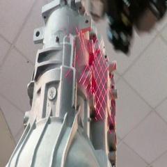 3D robotic arm scanner Stock Footage