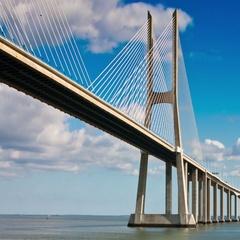 Vasco da Gama Bridge Stock Footage