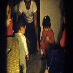 1958: people enjoying each other and having a great time in a house ALIQUIPPA Stock Footage