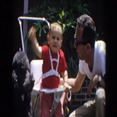1964: people outside playing and having a great time NORTH HOLLYWOOD, CALIFORNIA Stock Footage