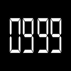 Digital timer countdown-03 Stock Footage