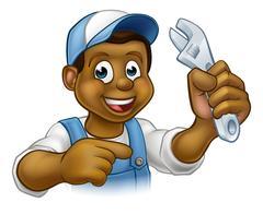 Mechanic or Plumber Handyman Stock Illustration