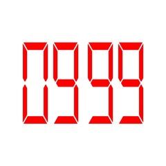 Digital timer countdown-12 Stock Footage