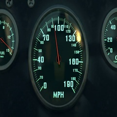 Dashboard Of The Race Car. Loop. Stock Footage